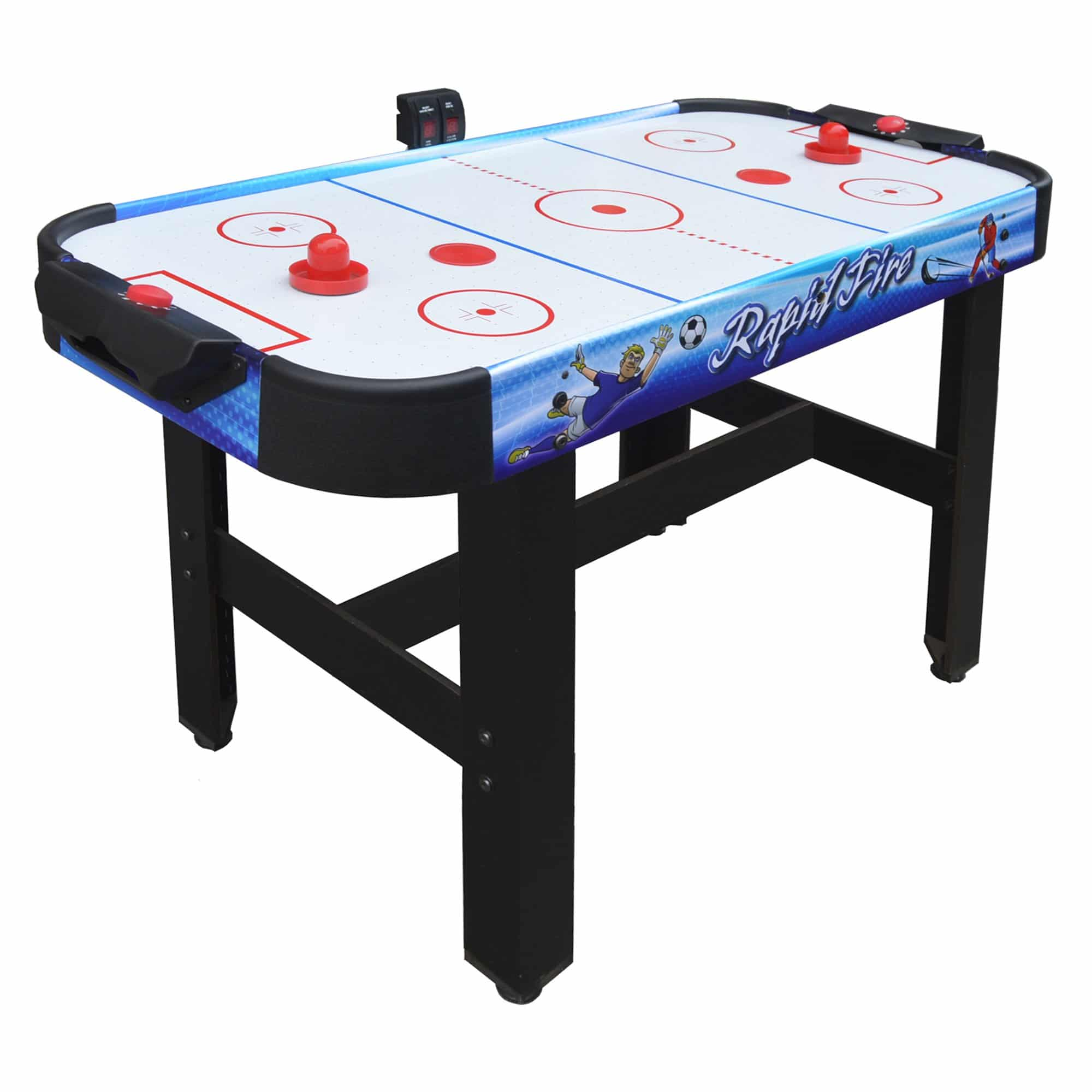 Rapid Fire 42 In 3-in-1 Air Hockey Multi-Game Table - Pool Warehouse