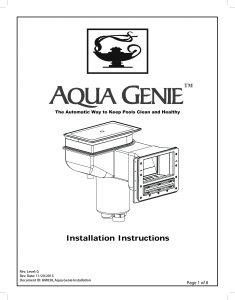 Aqua Genie Manual