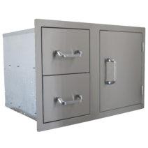 BeefEater Stainless Steel Dual Drawer / Single Door Combo