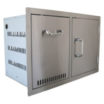 BeefEater Stainless Steel Propane Drawer / Single Door Combo