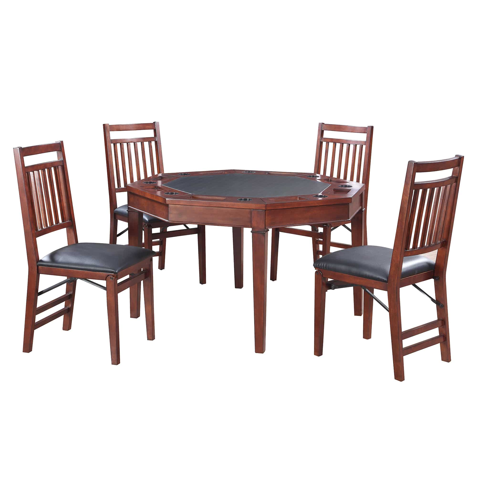 Broadway 48 In Folding Poker Table And Chairs Set Pool Warehouse