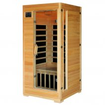 Buena Vista 1-2 Person Hemlock Infrared Sauna with Carbon Heaters