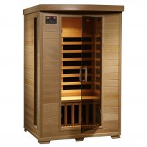 Coronado 2-Person Hemlock Deluxe Infrared Sauna with Carbon Heaters