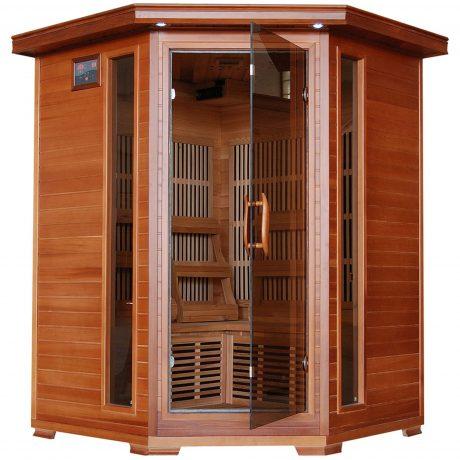 Hudson Bay 3-Person Cedar Corner Infrared Sauna