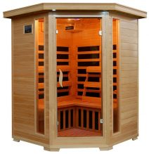 Sante Fe 3-Person Hemlock Corner Infrared Sauna