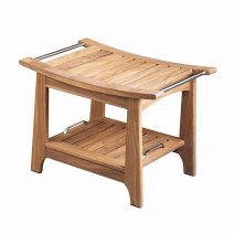 Teak Shower and Sauna Bench with Storage