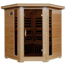 Tucson 4-Person Hemlock Corner Infrared Sauna