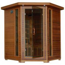 Whistler 4-Person Cedar Corner Infrared Sauna