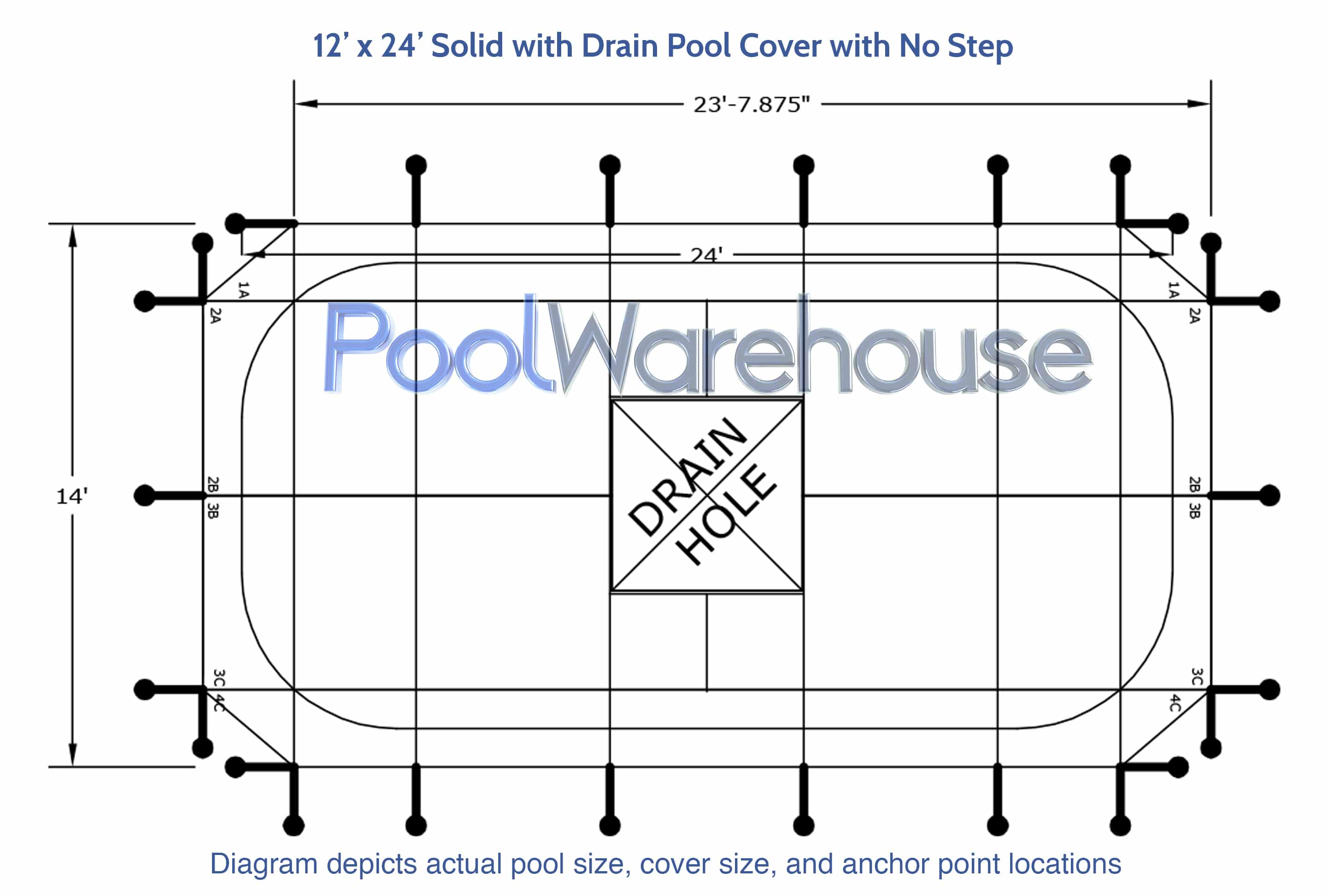 12 X 24 Solid Winter Swimming Pool Cover Pool Warehouse