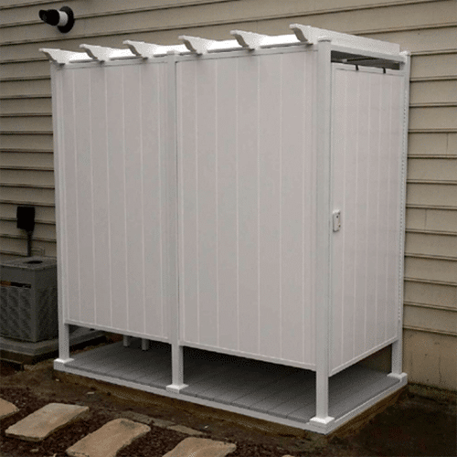 Toddpod 46 Quot X 88 Quot 3 Sided Double Outdoor Shower Enclosure