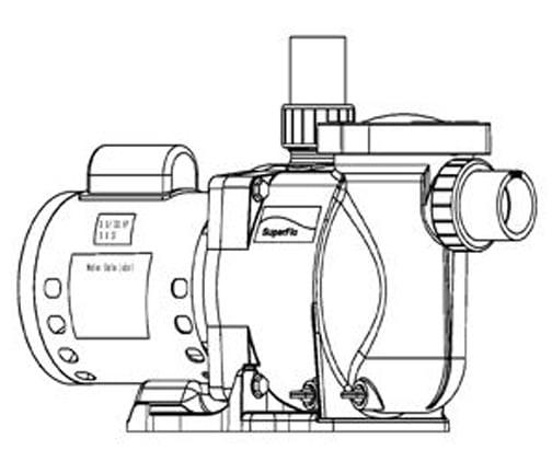 Pentair Superflo 1 5 Hp Standard Efficiency Pool Pump