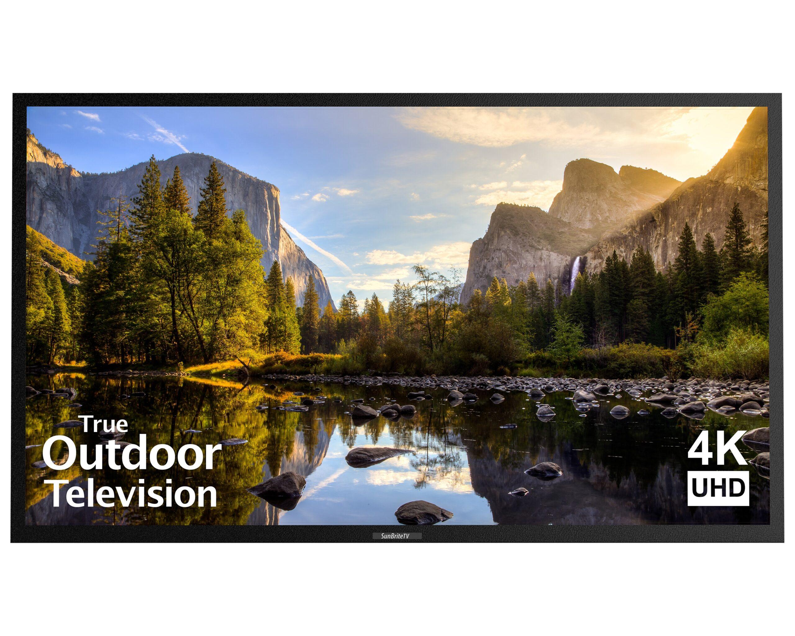 4K UHD HDR LED Outdoors TV SB-V-43-4KHDR-BL Black SunBriteTV 43-Inch Outdoor Television for Shade Veranda 2nd Gen