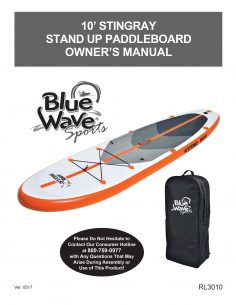 Stingray 10-ft Inflatable Stand Up Paddleboard Manual