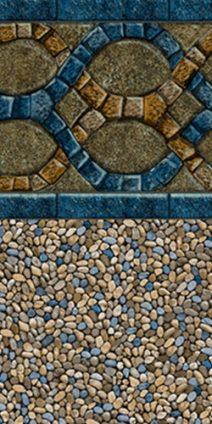 Caribbean sandstone pool liner