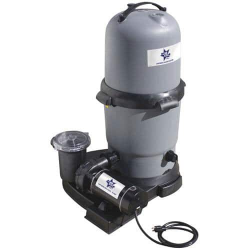 blue star clearwater ii cartridge filter system with 1.5 hp 2 speed ...