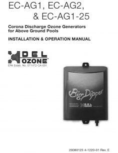 DEL Ozone Big Dipper Above Ground Pool Ozone Generator Manual