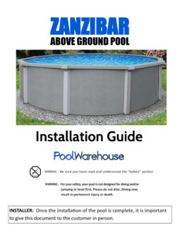 Zanzibar Above Ground Pool Installation Guide