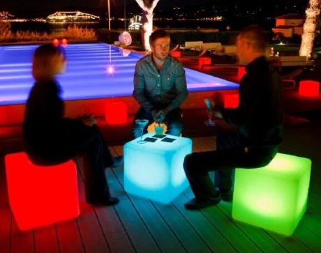 16-Inch Waterproof Block LED Light Cube with Remote