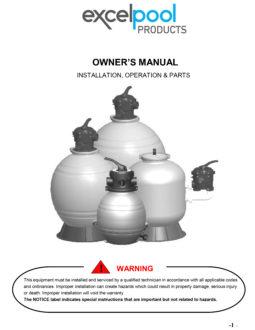 Excel 22″ Sand Filter Manual