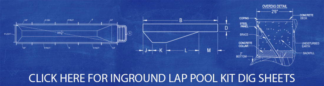 Lap Pool Kit Dig Sheets