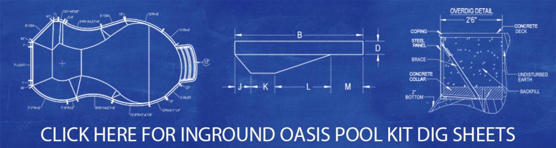Oasis Pool Kit Dig Sheets