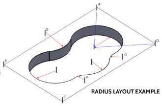 Swimming Pool Kit Radius Layout