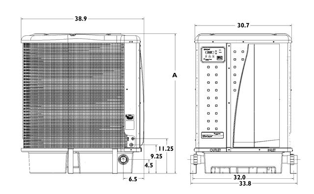 UltraTemp 140k BTU Pool Heater And Chiller