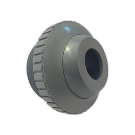 "Super Pro 1.5"" MPT 3/4"" Grey Wall Return Eye Ball Fitting"