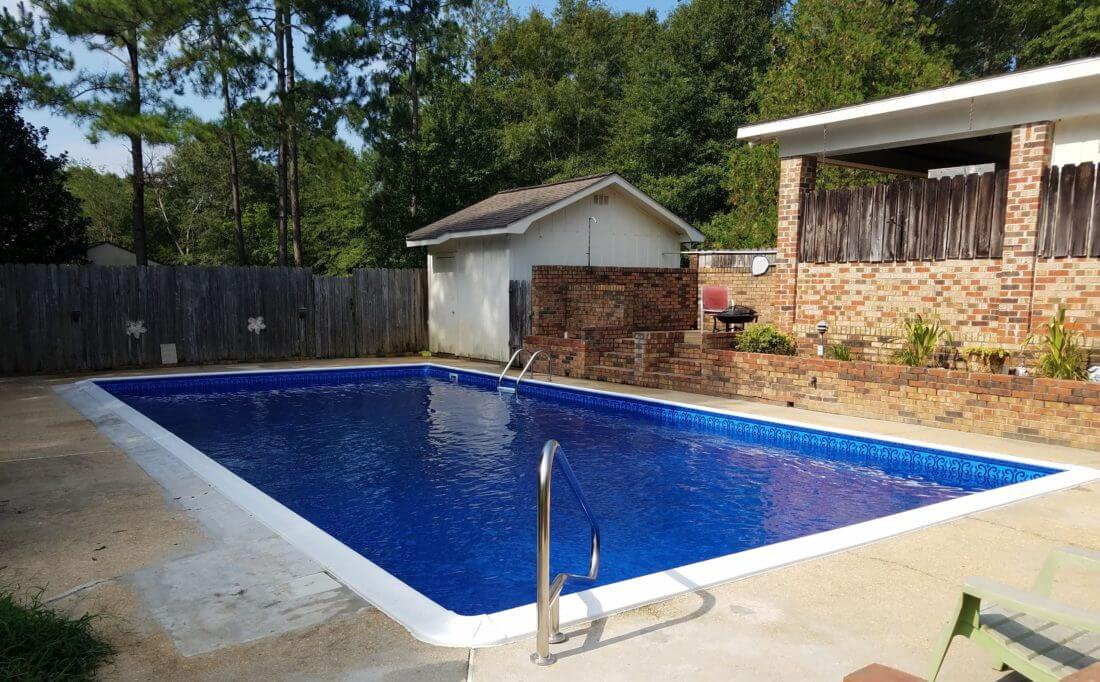 HD Blue Oxford Aquarius Inground Pool Liner