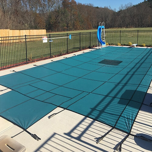 20 X 44 Hydra Lite Weight Solid Safety Pool Cover With Step