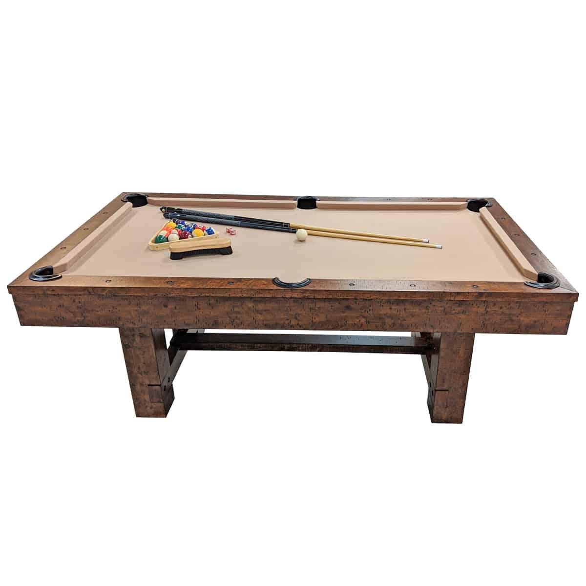Nashville Nights Distressed Wood Pool Table