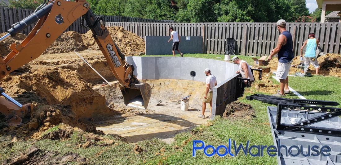 Fillingame Louisiana Inground Pool Kit Construction