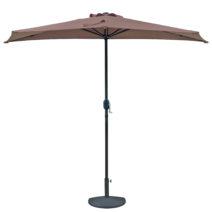 Lanai 9-ft Half Umbrella in Polyester