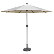 Mirage Fiesta 9-ft Octagonal Market Umbrella with Solar LED Lights