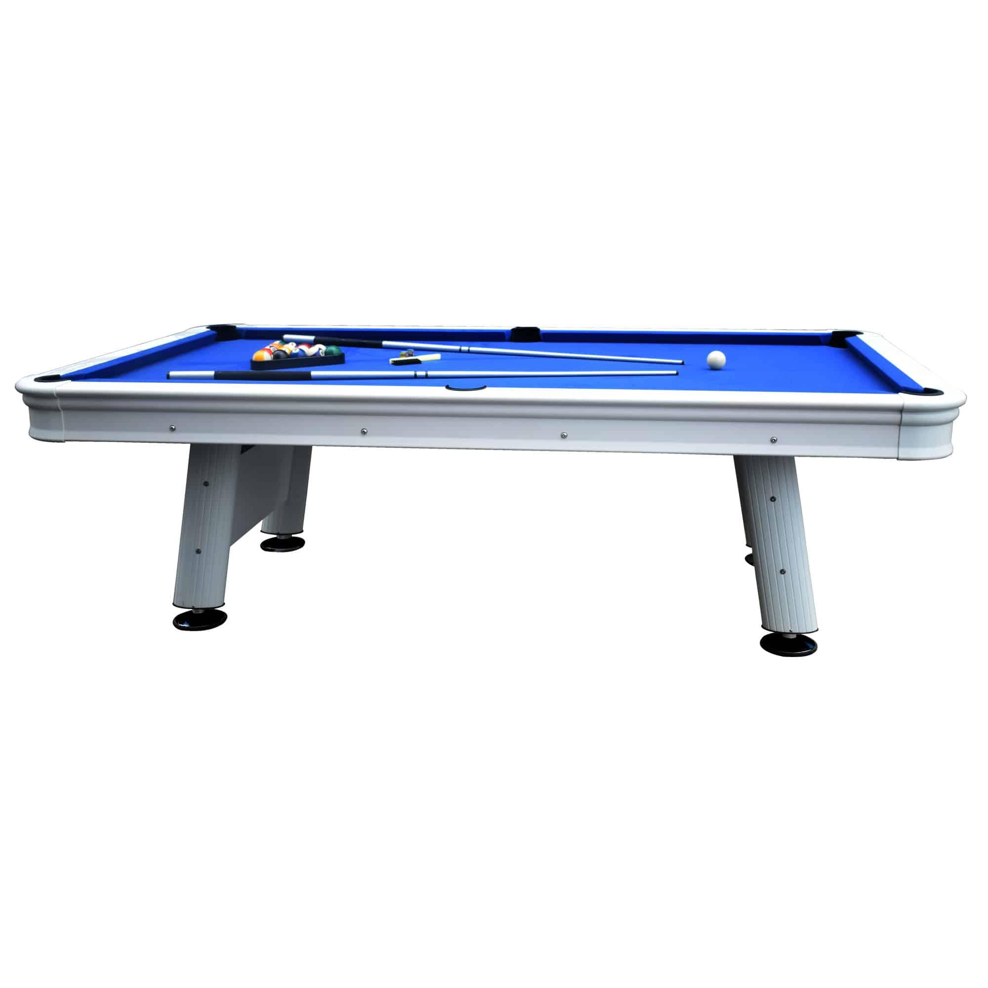 Pool Table With Aluminum Rails Waterproof Felt