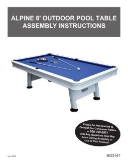 Pool Table With Aluminum Rails U0026 Waterproof Felt Manual ...
