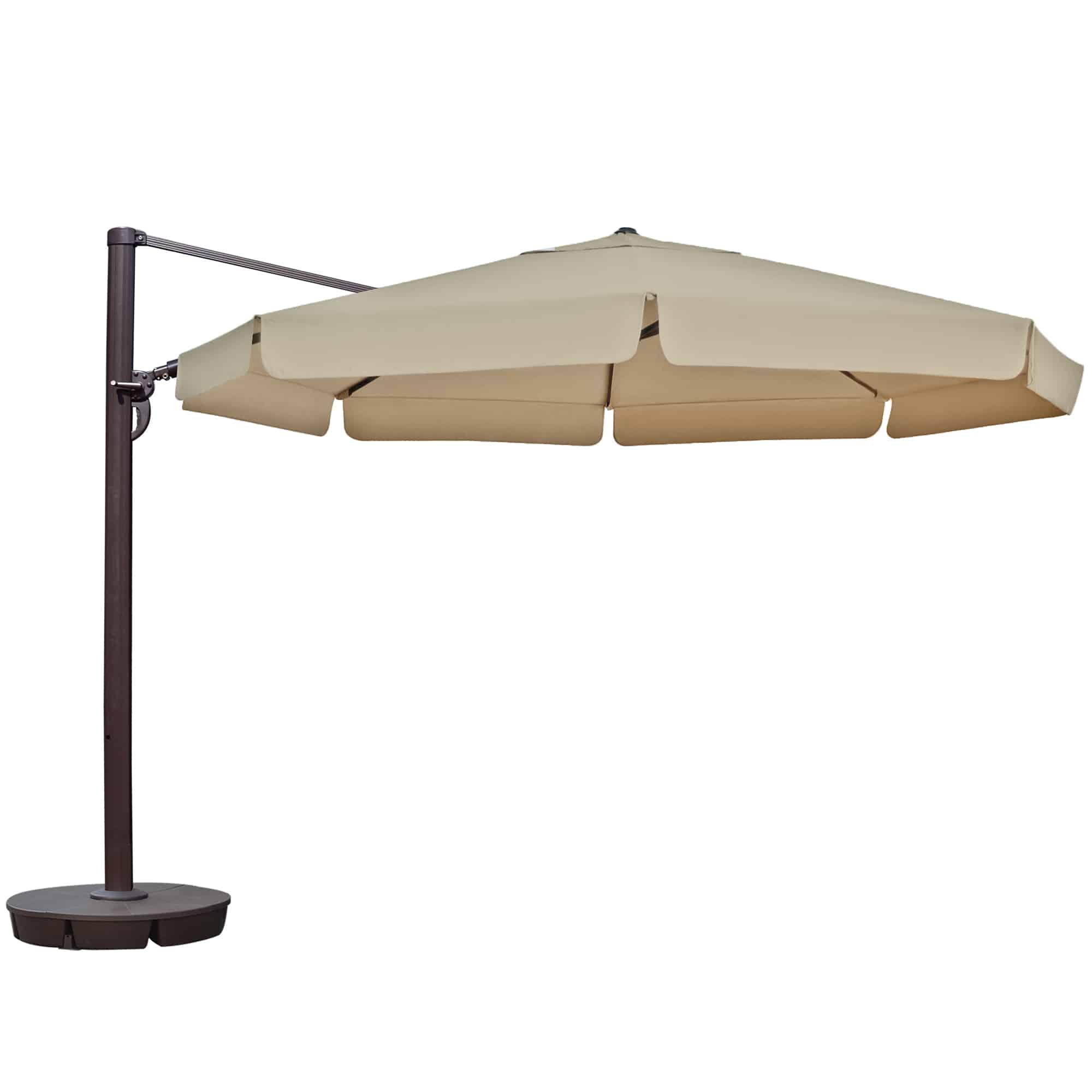 victoria 13 ft octagonal cantilever patio umbrella with valance in sunbrella acrylic