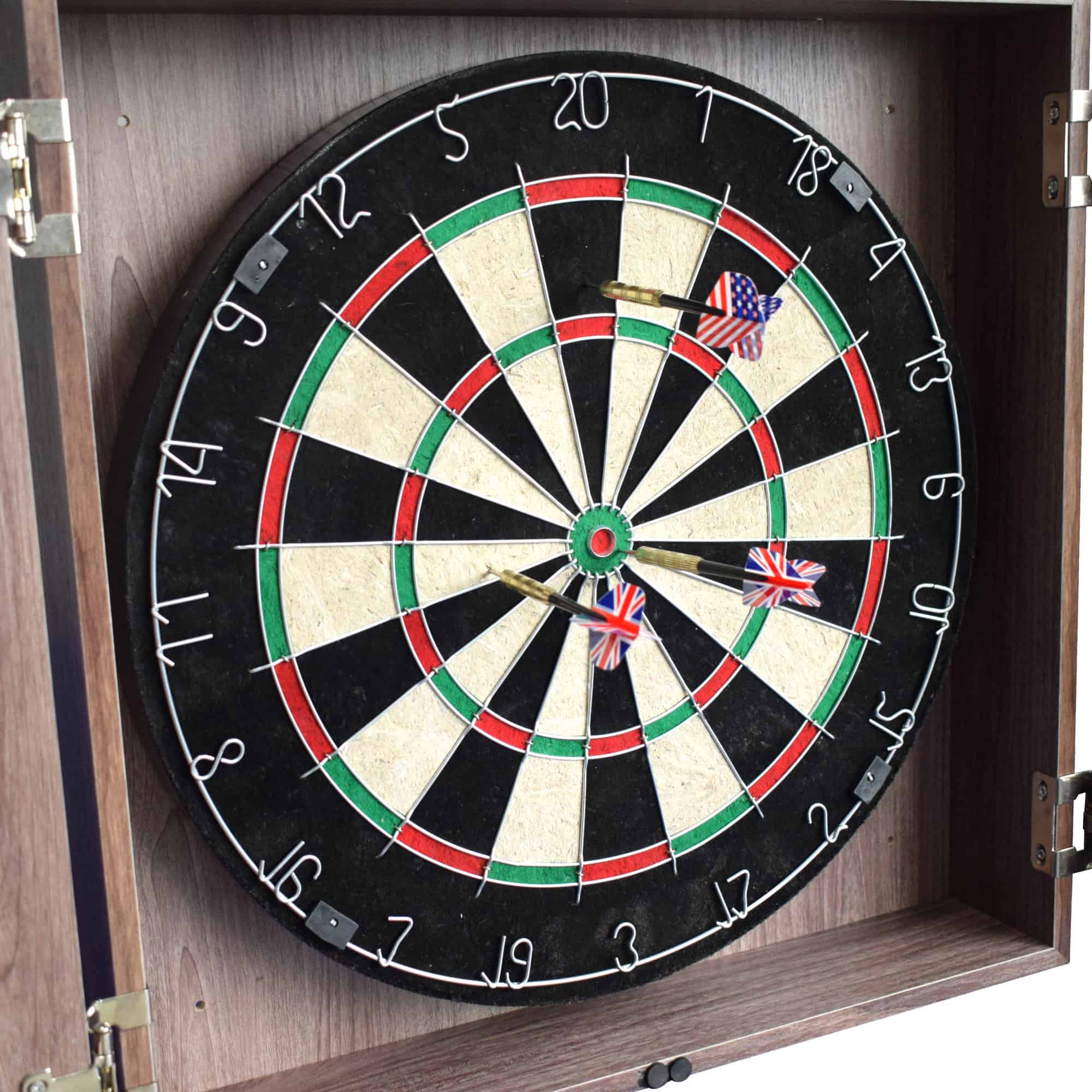 Winchester Dartboard And Cabinet Set Driftwood