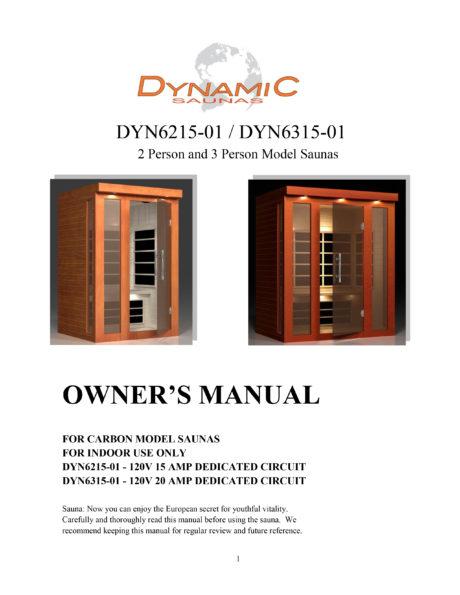 Florence 3 Person Dynamic Low EMF Far Infrared Sauna Manual