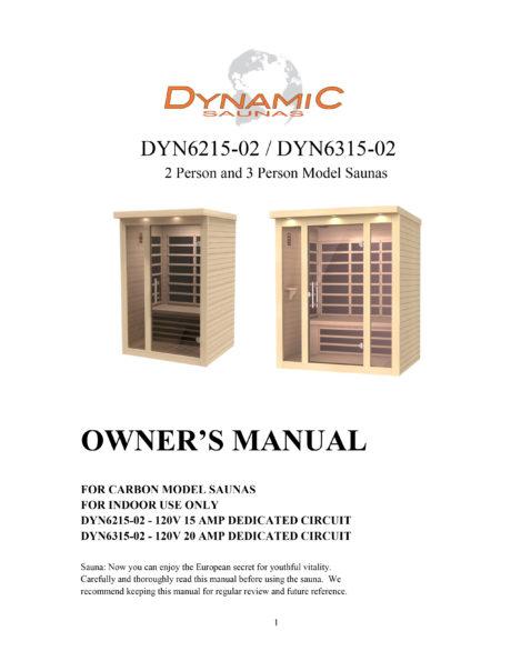 Porto 3 Person Low EMF Far Infrared Sauna Manual