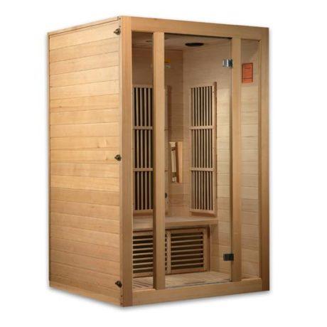 Seattle 2 Person Carbon Far Infrared Hemlock Sauna