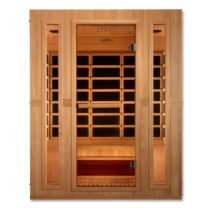 Trinity Dual Tech 3 person Low EMF FAR Infrared Hemlock Sauna