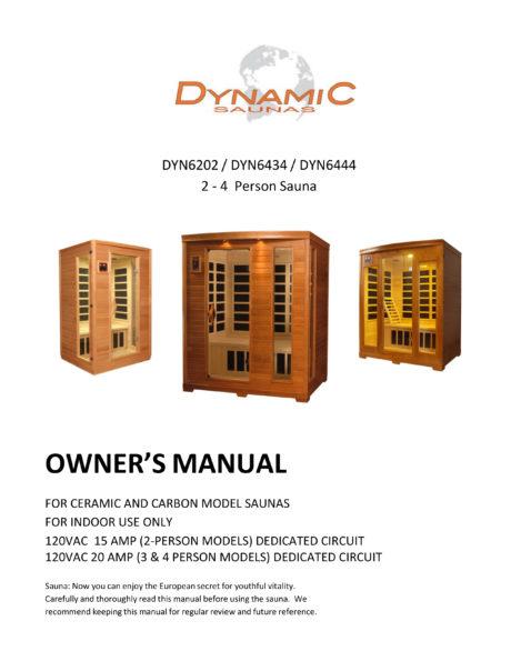 Versailles HF 2 Person Dynamic Low EMF Far Infrared Sauna Manual
