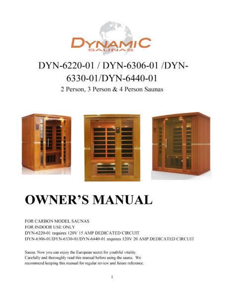 Vittoria 2 Person Dynamic Low EMF Far Infrared Sauna Manual