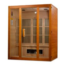 Alpine Dual Tech 3 Person Low EMF FAR Infrared Hemlock Sauna