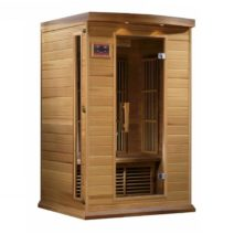 Maxxus 2 Person Low EMF FAR Infrared Red Cedar Sauna