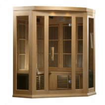 Maxxus 3 Person Deluxe Low EMF FAR Infrared Hemlock Sauna