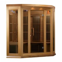 Maxxus 3 Person Deluxe Low EMF FAR Infrared Red Cedar Sauna
