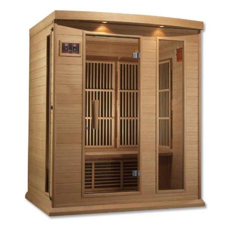 Maxxus 3 Person Low EMF FAR Infrared Hemlock Sauna