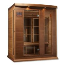 Maxxus 3 Person Low EMF FAR Infrared Red Cedar Sauna